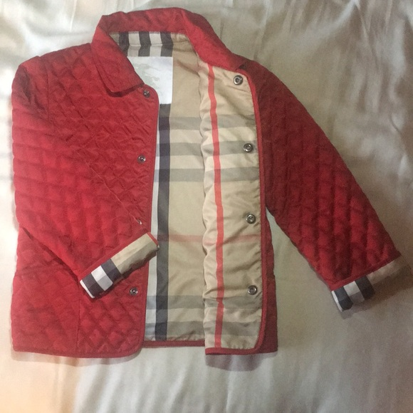 Burberry Other - New! Burberry diamond quilted girls jacket